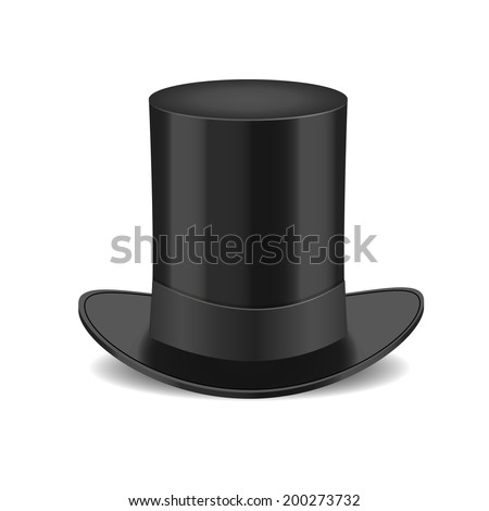 Black gentleman hat Isolated on White Background - stock vector