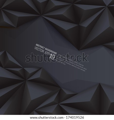 Black geometrical background. polygonal background for card design, page design, leaflet, brochure, flyer or magazine page design.  - stock vector
