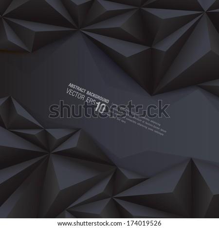 Black geometrical background. polygonal background for card design, page design, leaflet, brochure, flyer or magazine page design.  - stock vector