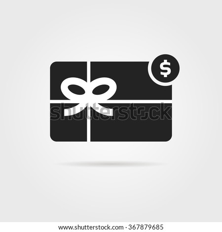 Black gift card icon shadow concept stock vector 367879685 black gift card icon with shadow concept of xmas promo saving currency negle Gallery