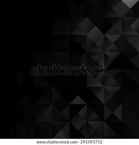 Black Grid Mosaic Background, Creative Design Templates - stock vector