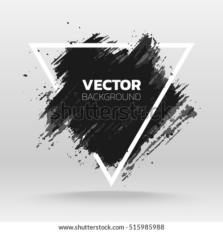 black grunge abstract background template brush stock