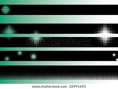 Black grunge artistic strips  (Transparent vectors so it can be overlaid onto other graphics and images) - stock vector