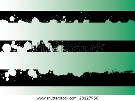 Black grunge artistic strips 4 (Transparent vectors so it can be overlaid onto other graphics and images) - stock vector