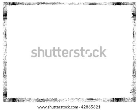 Black grunge frame - stock vector