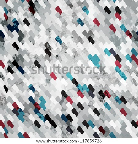 black grunge seamless pattern - stock vector
