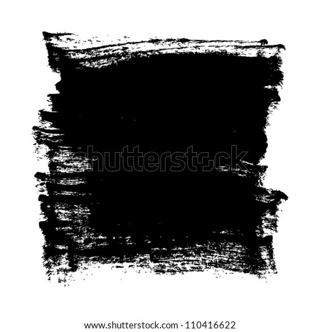 Black grungy vector abstract hand-painted background - stock vector