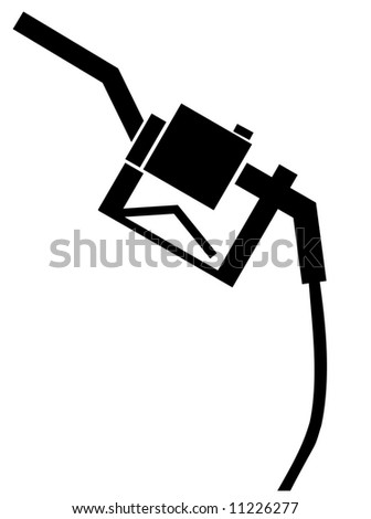 black handle from a gas or fuel pump - vector - stock vector
