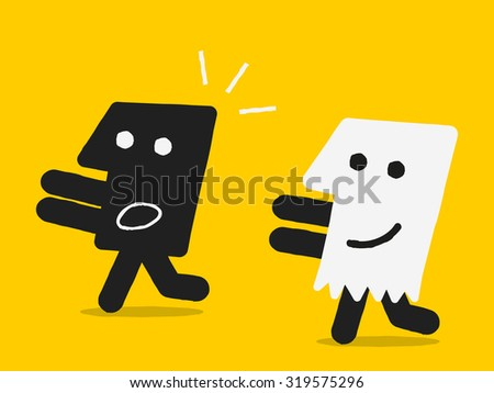 black head halloween concept - stock vector