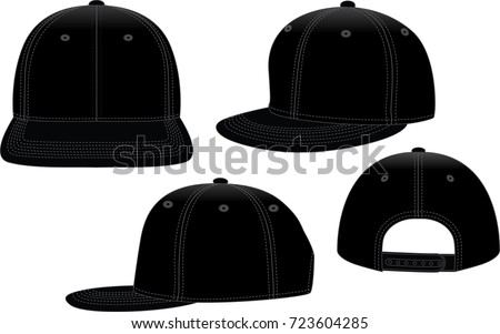 black hip hop hat template stock vector royalty free 723604285