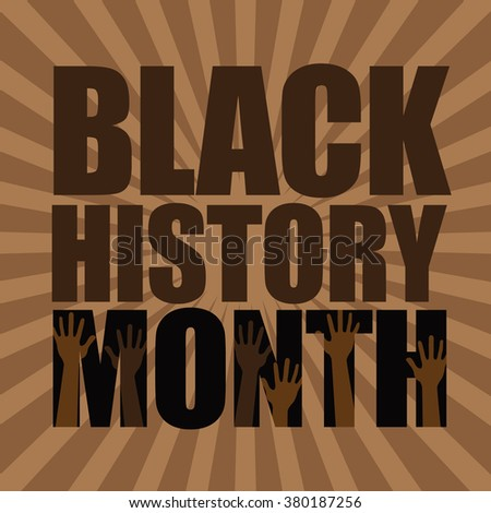 Black History Month burst design. EPS 10 vector. - stock vector