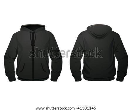 black hod-dy - stock vector
