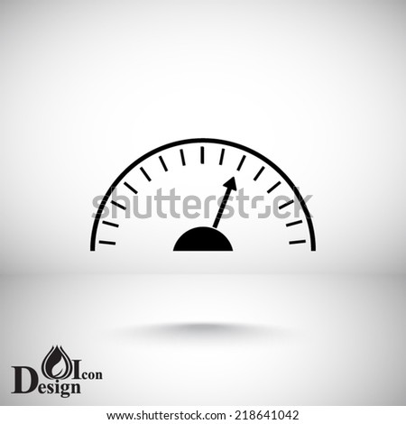 black icon on a gray background - stock vector