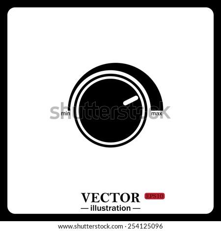 Black icon on white background. Volume control icon, vector illustration, EPS 10 - stock vector