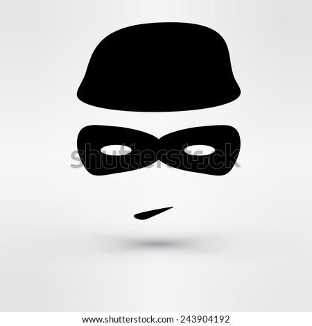 Black Icon thief. Vector - stock vector