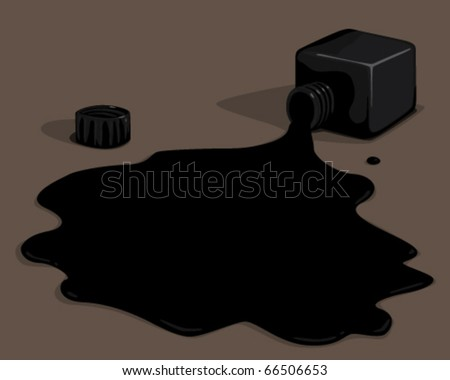 black ink. - stock vector