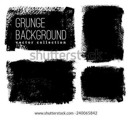 Black ink vector stains
