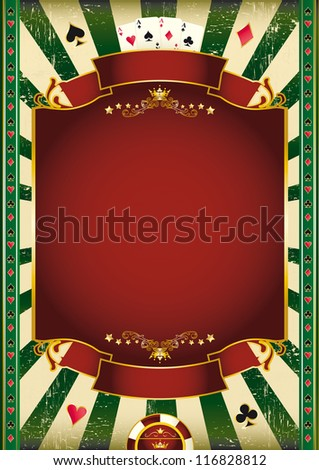 Black jack. A grunge wallpaper with a copy space for your poker tournament. - stock vector