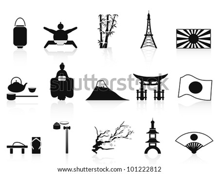 black japanese icon - stock vector