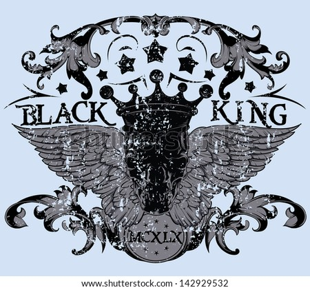 Black king / Also available in separate layer the original vector without scratch