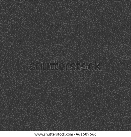 Black leather texture. Vector illustration