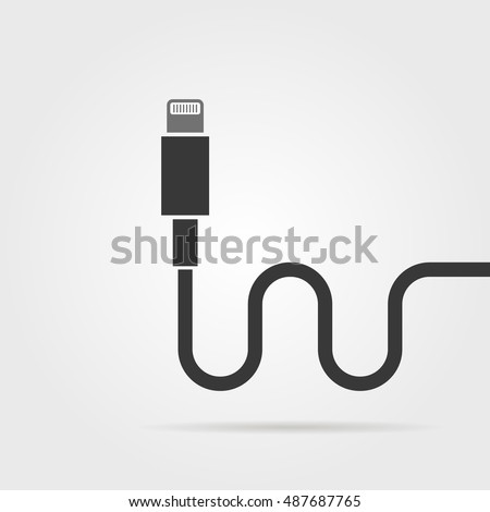 Black Lightning Connector Shadow Concept Connection Stock