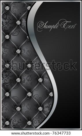 black luxury background vector - stock vector