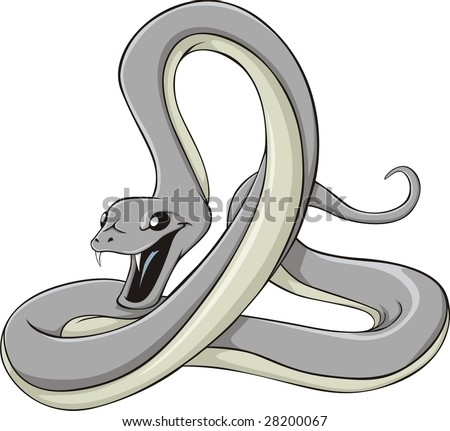 Black Mamba - stock vector