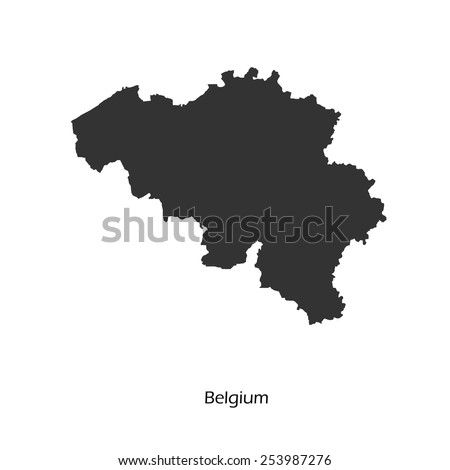 Black map of Belgium for your design, concept Illustration.