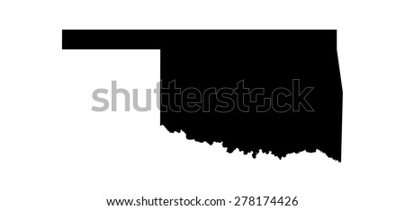 black map of state oklahoma
