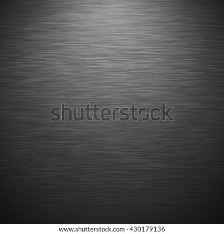 Black metallic texture. Vector illustration - stock vector