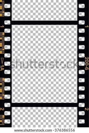 Black 35 mm Movie Film Strip - stock vector