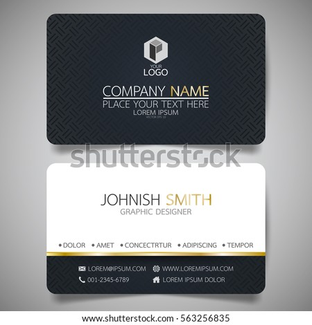 Black modern creative business card name stock vector hd royalty black modern creative business card and name cardhorizontal simple clean template vector design reheart Image collections