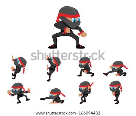Black Ninja - stock vector