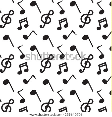black note music pattern vector
