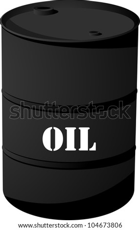 Black Oil barrel icon isolated on white. Vector - stock vector