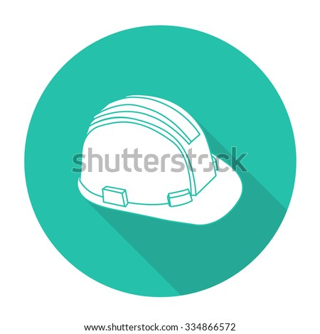 Black outline vector safety cap on white background.
