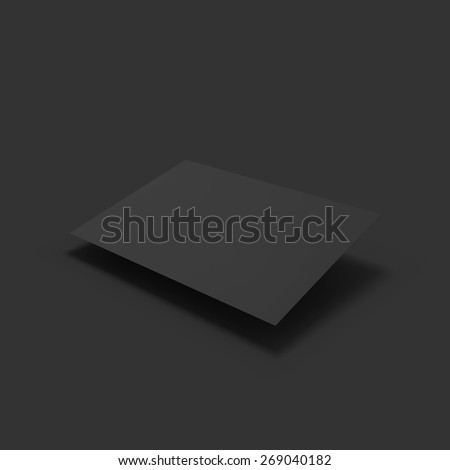 Black page. Business mockup template. Presentation of your branding and identity design. Vector Illustration EPS10. - stock vector