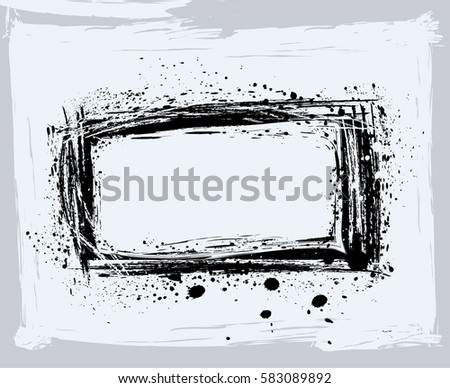 Black Paint Ink Brush Strokes Brushes Stock Vector (Royalty Free ...