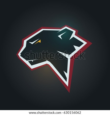 Black Panther Head Mockup Template Animal Stock Vector Hd Royalty