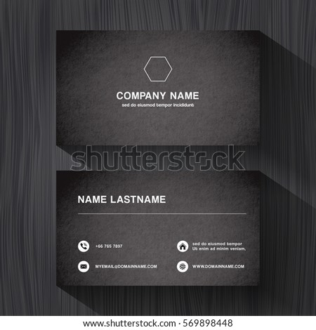 Black paper business namecard on black stock vector royalty free black paper business namecard on a black wood background vector reheart Image collections