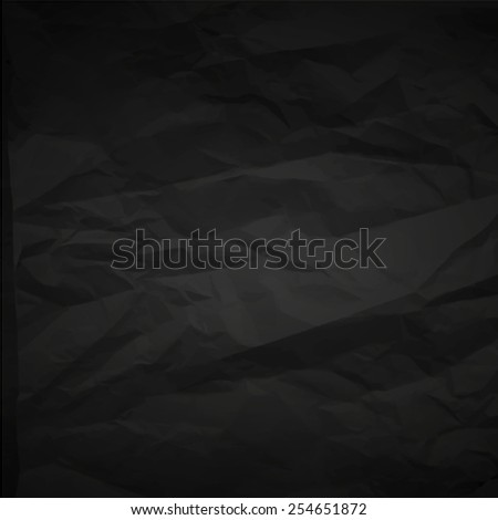 black paper sheet texture - stock vector