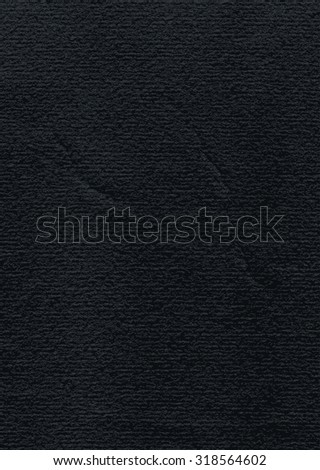 Black paper watercolor texture with damages, folds and scratches. Grunge empty blank background in A4 vertical format with copy space for text. Vector illustration clip-art design element in 8 eps - stock vector