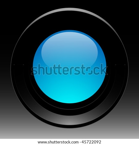 Black Photo Lens - stock vector