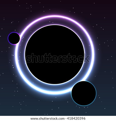 Black Planets Abstract Space background  for design - stock vector