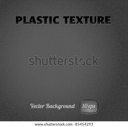 black plastic texture, easy to edit, vector eps10 - stock vector