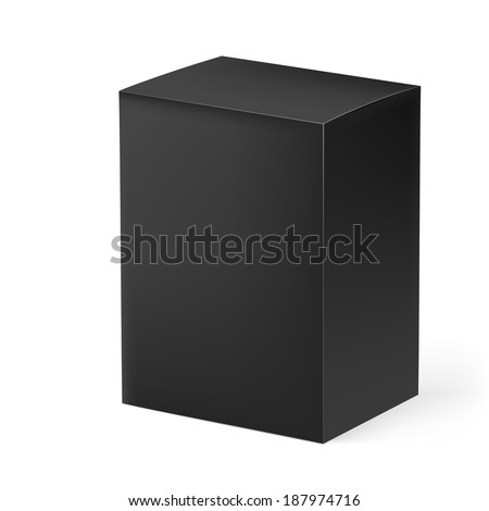 Black rectangular box isolated on white background