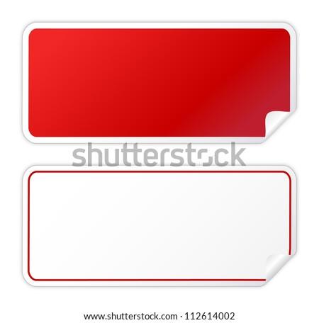 Black red sticker on white - stock vector