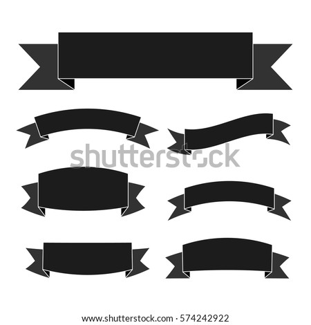 old ribbon banner black whiteillustration eps10 stock vector, Powerpoint templates