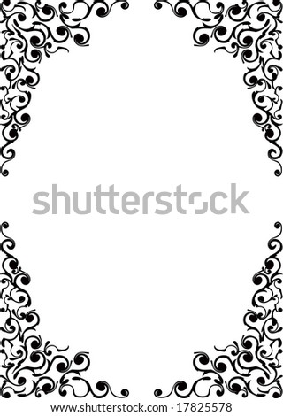 Black  scope  for  pictures - stock vector
